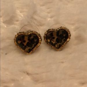 AUTHENTIC Betsy Johnson Leopard print earrings